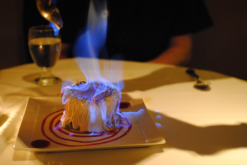 my first baked alaska! (green tea)