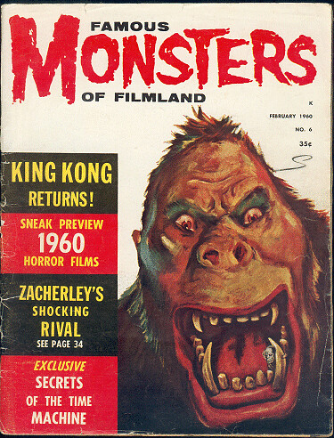 FAMOUS MONSTERS OF FILM LAND King Kong cover