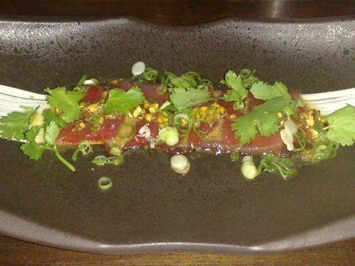 tuna sashimi, entree special