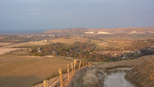 Kingston and Lewes in the distance
