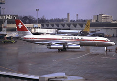 Swissair, HB-ICA, CV-990, FRA, 1972 (AlainDurand) Tags: germany frankfurt aviation airlines coronado fra airliners airtransport swissair convair jetliners swissairlines worldairlines cv990 europeanairlines convaircv990coronado convaircv990