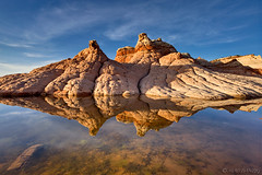 White Pocket Reflection (Mac Danzig Photography) Tags: coyote sunset arizona reflection rock landscape utah desert formation buttes whitepockets tnc11