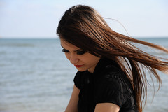 Sadness (Volkan Donbalolu) Tags: sea portrait people beach girl beautiful beauty face female turkey photography sadness photo nikon perfect photographer expression side trkiye great picture photographers istanbul full portraiture frame fullframe nikkor fx deniz turkish portre volkan gzel kz kumsal silivri d700 nikond700 2485f284d portraitworld donbaloglu donbalolu volkandonbalolu volkandonbaloglu nikonnikkoraf2485mmf284dif