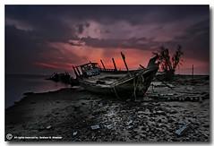 The Beautiful Sunset (ibrahem N. ALNassar) Tags: sunset beautiful canon landscape eos n l 5d kuwait usm ef 1740mm f4 the ابراهيم الكويت كويت alnassar كانون ibrahem التلوث النصار