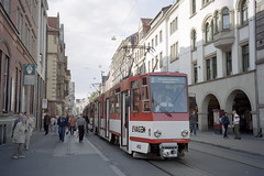 2002-05-29 Erfurt Tramway Nr.452 (beranekp) Tags: germany deutschland erfurt trolley tram tramway strassenbahn tramvaj tranvia elektrika šalina