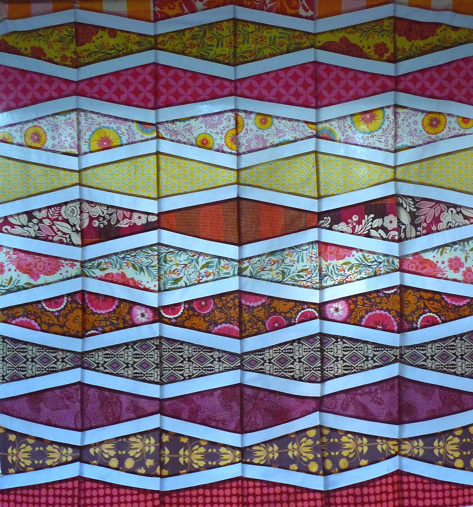 swazi quilt  top #2, backlit