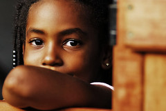 Ebony eyes... (jendayee) Tags: wood portrait brown black kids eyes martinique caribbean ebony westindies