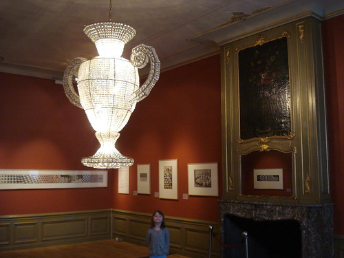 chandelier in the Escher Museum