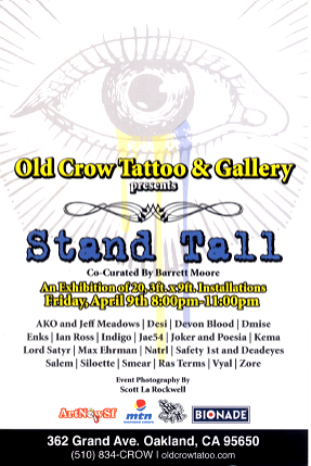 Stand Tall, Art Show, Oakland