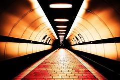 Demonic Cowcaddens (Semi-detached) Tags: lighting light urban station architecture train underground subway lens scotland nikon angle glasgow interior tube wide perspective platform scottish sigma tunnel demon april tunnels 1020 2010 spt cowcaddens