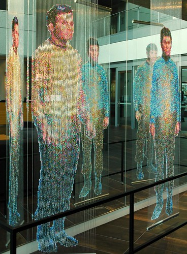 Spock, Kirk and McCoy: Beaming-In (In-Between), sculpture by Devorah Sperber, Microsoft, Studio D, Redmond, Washington, USA