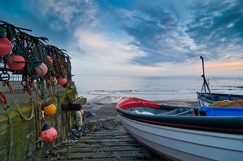 fisher boats in sheringham
