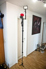 my manfrotto magic staff! (icedsoul photography .:teymur madjderey) Tags: germany deutschland lumix fotograf zoom cologne kln redhead panasonic micro pro pancake 20mm windscreen manfrotto h4n gf1 photogrpaher teymur micropro 190xdb litepanels 233b icedsoul madjderey icedsoulde 561bhdv