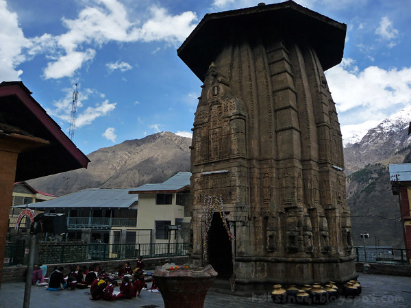 Bharmour Going to School at the Temple Courtyard