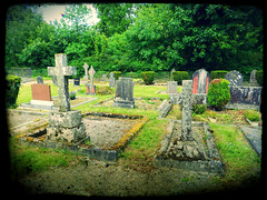 Carnalway church & cemetery with effects