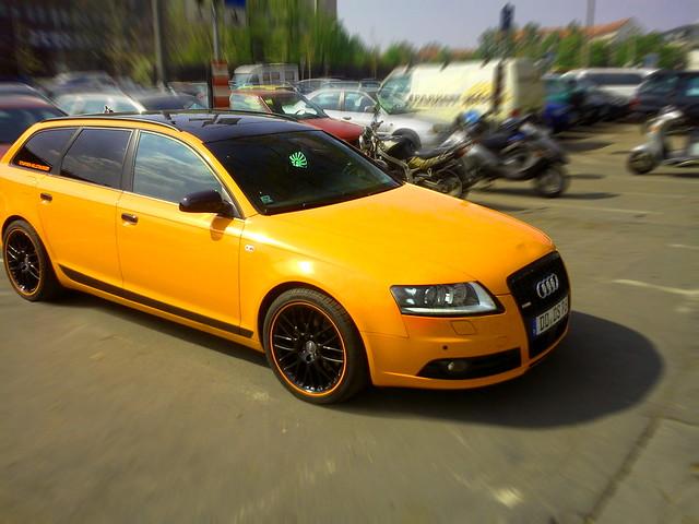 orange germany dresden audi s6 2011