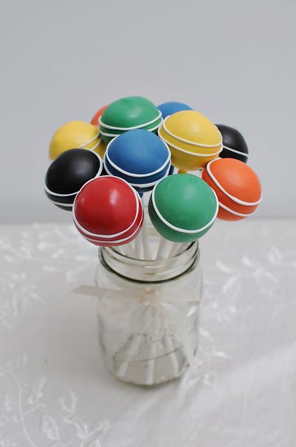 croquet ball cake pops