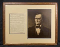 A.J. Conant's 'Smiling Lincoln' photo (Madison Historical Society) Tags: madisonhistoricalsociety madisonhistory mhs madison connecticut conn ct country usa lincoln portrait blackwhite newengland nikon nikond600 d600 bobgundersen old historical history civilwar antiques allisbushnellhouse abhouse bostonpostroad route1 interesting image inside indoor interior photo picture people flickr