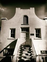 The Chapel (Feldore) Tags: chapel alcatraz old building sepia vintage prison traditional style california wet plate retro feldore mchugh em1 olympus 1240mm steps shadows