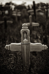 Taos Grave (Dan Newcomb Photography) Tags: new bw grave mexico pueblo taos