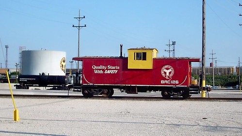 Belt Railway of Chicago wide vision caboose # 126 at Clearing Yard. Bedford Park Illinois. July 2007. by Eddie from Chicago
