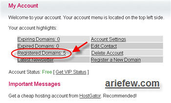 Manage Domain Gratis CZ.CC – NameServer