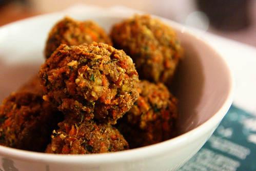 Carrot and Walnut Tofu Neatballs