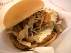 とびきりハンバーグサンド 「きのこと根菜ソテー&チーズ」