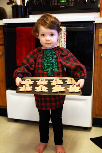 Gingerbread Ruffle Shirt