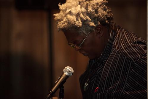 Donna Garrett on open mic