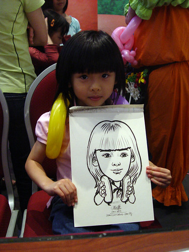 Caricature live sketching for Marina Square X'mas Tenants Gathering 2009 - 24