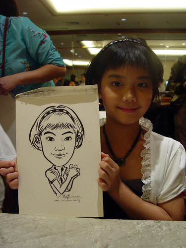 Caricature live sketching for wedding dinner 221109 - 8