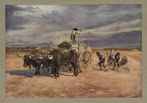 002-Trabajadores en el campo-Segovia-An artista in Spain 1914- Michael Arthur C.