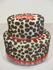 leopard cake (megpi) Tags: california ca food art cake work dessert la baking losangeles leopard bakery sweets icing manhattanbeach frosting susiecakes decorationdesign