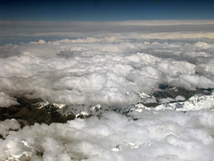 The Southern Alps (Robeevans) Tags: travel newzealand sky holiday snow mountains travelling weather clouds plane canon landscape flying high aerial powershot southisland southernalps sx10 sx10is canonpowershotsx10is