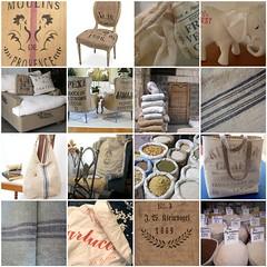 Antique Grain Sacks (Peace Joy Love) Tags: seed sack hemp grainsack floursacks antiquegrain vintagegrain