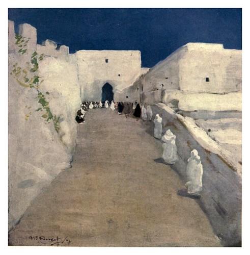 003-Calle de la Kasbah en Tanger-Morocco 1904- Ilustraciones de A.S. Forrest