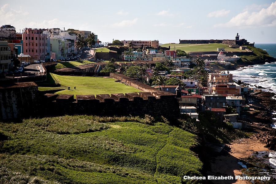 Old San Juan view from San Cristobal of El Morro
