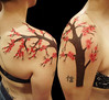 Cherry blossom freehand tattoo Miguel Angel Professional