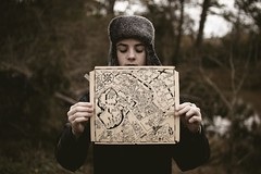 my road map (laurenmarek) Tags: boy brown cold hat forest dark kid woods nikon december texas map sigma adobe elements tones lightroom bellville 30mm photosop d40 laurenmarek johnthomasmarek
