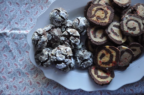 Krackle & Peppermint Chocolate Pinwheel Cookies