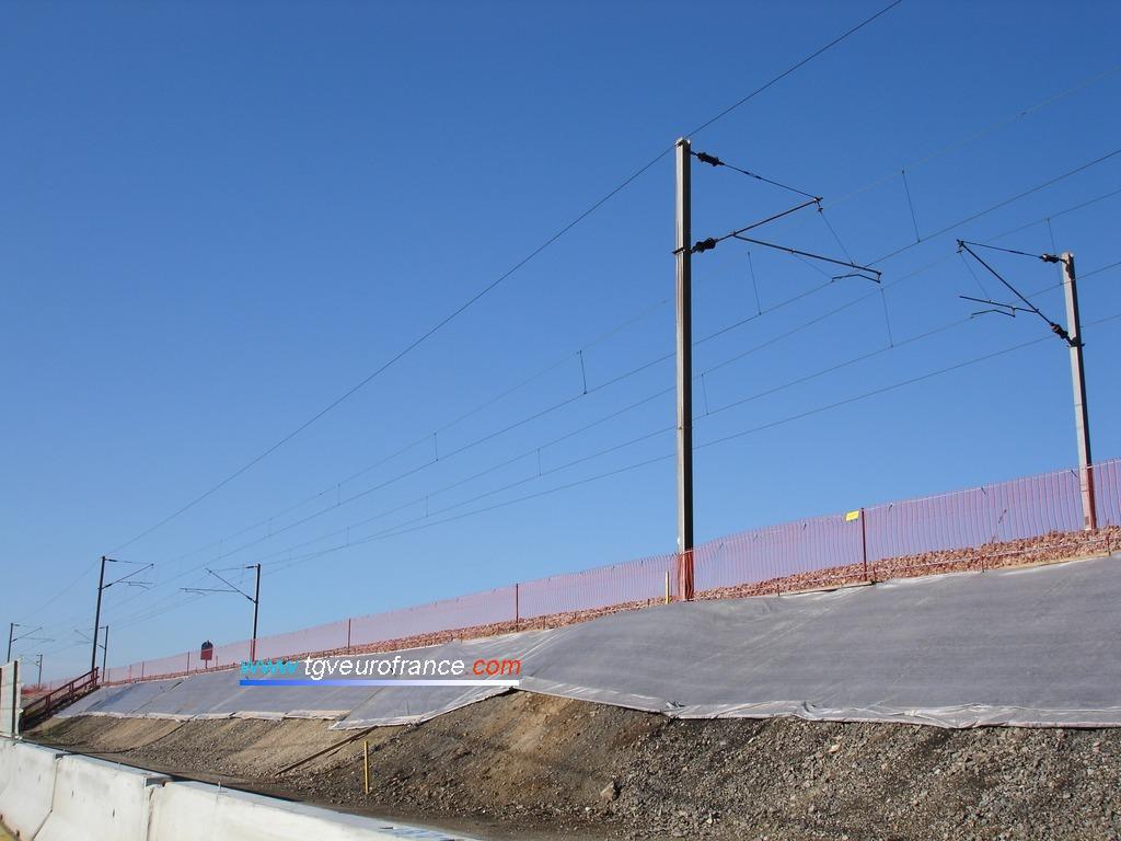 Chantier de construction d'une troisième voie entre Aubagne et Marseille en Région Provence-Alpes-Côte d'Azur