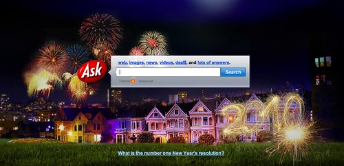 Ask.com New Years Logo