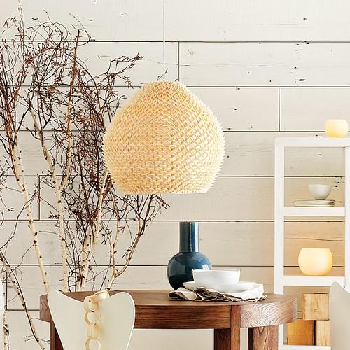 woven pendant lamp interior west elm