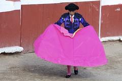 Warming Up (Sirsnapsalot) Tags: pink miguel de mexico san bullfight allende matador