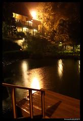garut_3102 (tunachilli) Tags: travel light vacation west water night canon reflections indonesia lens photography eos java darkness angle wide lamps mm kampung 2009 jawa 1740mm 1740 garut efl barat 450d sampireun tunachilli