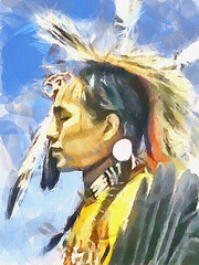 Native american (piker77) Tags: portrait painterly man celebrity art face digital photoshop watercolor painting interesting media natural retrato aquarelle indian digitale manipulation simulation peinture illusion virtual american watercolour transparent acuarela tablet technique wacom ritratto stylized pintura portre  imitation dap headdress  aquarela aquarell emulation malerei pittura virtuale virtuel naturalmedia bildnis   thebestofday gnneniyisi  piker77wc