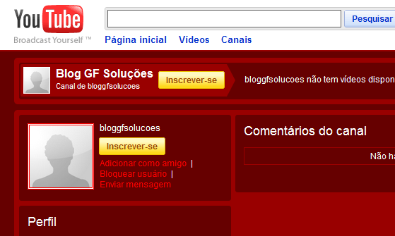 divulgar blog no youtube