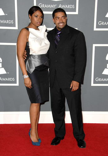 Grammys 2009 - Jennifer Hudson and fiance David Otunga