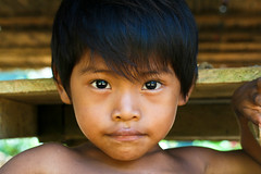 Vladmir (Universal Stopping Point) Tags: wood boy portrait face kid child board hut panama shoulders tribe gaze embera indigenous emberapuru brightenedcontrastedvibrancy chagrasnationalpark